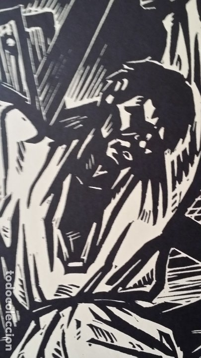 Arte: Willi Geissler La guerra de los campesinos, Portfolio con 6 xilografías , 1926 - Foto 10 - 174461894