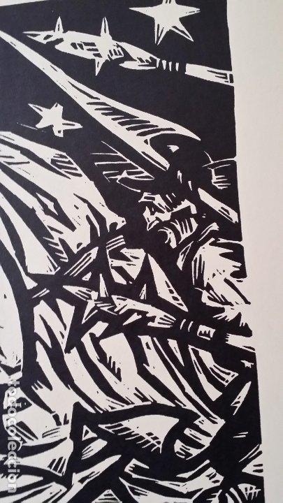 Arte: Willi Geissler La guerra de los campesinos, Portfolio con 6 xilografías , 1926 - Foto 11 - 174461894