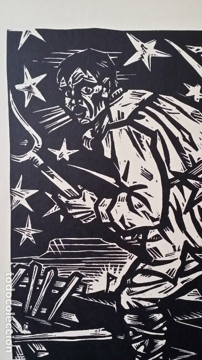 Arte: Willi Geissler La guerra de los campesinos, Portfolio con 6 xilografías , 1926 - Foto 12 - 174461894