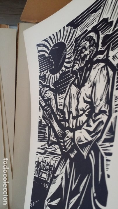 Arte: Willi Geissler La guerra de los campesinos, Portfolio con 6 xilografías , 1926 - Foto 14 - 174461894