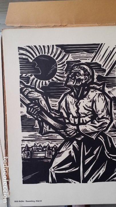 Arte: Willi Geissler La guerra de los campesinos, Portfolio con 6 xilografías , 1926 - Foto 15 - 174461894