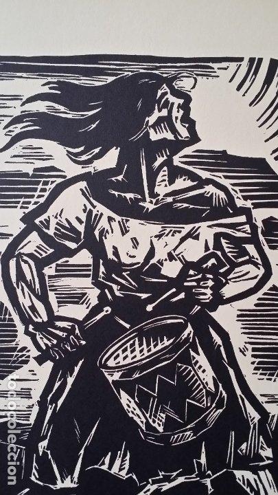 Arte: Willi Geissler La guerra de los campesinos, Portfolio con 6 xilografías , 1926 - Foto 16 - 174461894