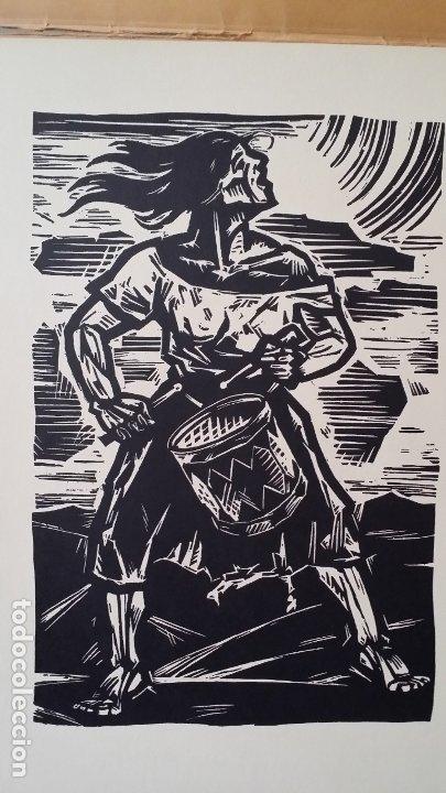 Arte: Willi Geissler La guerra de los campesinos, Portfolio con 6 xilografías , 1926 - Foto 17 - 174461894