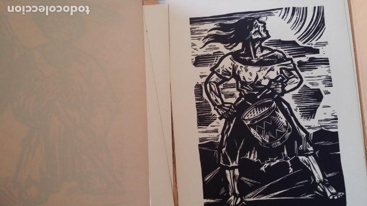 Arte: Willi Geissler La guerra de los campesinos, Portfolio con 6 xilografías , 1926 - Foto 18 - 174461894