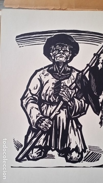Arte: Willi Geissler La guerra de los campesinos, Portfolio con 6 xilografías , 1926 - Foto 19 - 174461894