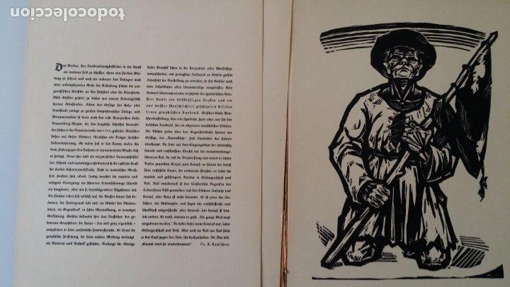 WILLI GEISSLER LA GUERRA DE LOS CAMPESINOS, PORTFOLIO CON 6 XILOGRAFÍAS , 1926 (Arte - Xilografía)