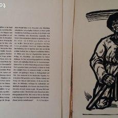 Arte: WILLI GEISSLER LA GUERRA DE LOS CAMPESINOS, PORTFOLIO CON 6 XILOGRAFÍAS , 1926. Lote 174461894