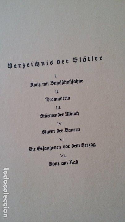 Arte: Willi Geissler La guerra de los campesinos, Portfolio con 6 xilografías , 1926 - Foto 20 - 174461894
