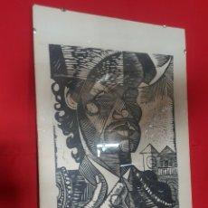 Arte: TORERO. DE AMALIO GARCÍA DEL MORAL. XILOGRAFÍA.. Lote 176099968