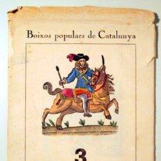 Arte: BOIXOS POPULARS DE CATALUNYA 3. CAPÇALERES DE ROMANÇ - 10 LÀMINES AMB BOIXOS. Lote 178008884