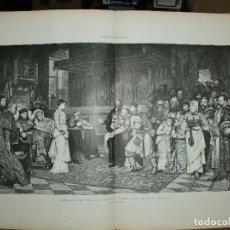 Arte: XILOGRAFIA: EMBAJADA DEL REY LADISLAO DE HUNGRIA A CARLOS VLL DE FRANCIA G-ILUSESP-001. Lote 179152507