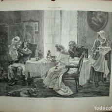 Arte: XILOGRAFIA: EL GENERAL BRUNE EN CASA DE CAMILO DESMOULINS. ILUSTRACION ESPAÑOLA G-ILUSESP-006. Lote 179152785