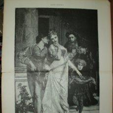 Arte: XILOGRAFIA: EL AMOR Y EL INTERES. CUADRO DE M. VELY. ILUSTRACION ESPAÑOLA G-ILUSESP-008. Lote 179152878