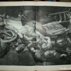 Arte: XILOGRAFIA: EL DESCENDIMIENTO DE LA CRUZ. CUADRO DE P.P. RUBENS. ILUSTRACION ESPAÑOLA G-ILUSESP-009. Lote 179152942