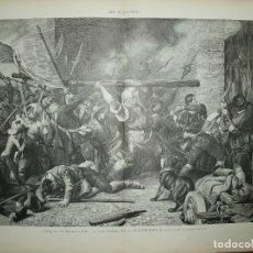 Arte: XILOGRAFIA: ATAQUE DE MUNICH POR LOS CAMPESINOS 25 DE DIC. 1705. ILUSTRACION ESPAÑOLA G-ILUSESP-010. Lote 179152995