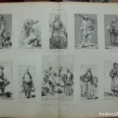 Arte: XILOGRAFIA: TIPOS GEORGIANOS. COPIADOS POR A. BERISSE. LA ILUSTRACION ARTISTICA G-ILUSESP-036. Lote 179400482