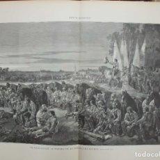 Arte: XILOGRAFIA: EL GRAN CONDE LA VISPERA DE LA BATALLA DE ROCKROY. LA ILUS. ARTISTICA G-ILUSESP-037. Lote 179400536