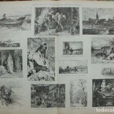Arte: XILOGRAFIA: EXPOSICION INTERNACIONAL DE MUNICH. ILUSTRACION ARTISTICA G-ILUSESP-042. Lote 179954656