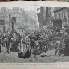 Arte: XILOGRAFIA: CONTRIBUCION DE GUERRA IMPUESTA A LA CIUDAD DE WISBY EN 1361…. G-ILUSESP-043. Lote 179954705