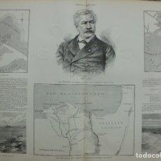Arte: XILOGRAFIA: M.R. FERNANDO DE LESSEPS. PRESIDENTE DE LA COMPAÑÍA DEL CANAL DE SUEZ G-ILUSESP-044. Lote 179954748