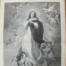 Arte: XILOGRAFIA: LA INMACULADA CONCEPCION. COPIA DE CUADRO DE MURILLO G-ILUSESP-049. Lote 179955015