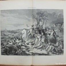 Arte: XILOGRAFIA: LA BATALLA DE LEIPZIG. DIBUJO POR TOLLER. ILUSTRACION ESPAÑOLA G-ILUSESP-050. Lote 179955081