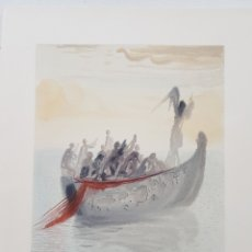 Arte: XILOGRAFIA ORIGINAL DE DALI MUESTRA EDITORIAL PARA LA DIVINA COMEDIA. Lote 180393206