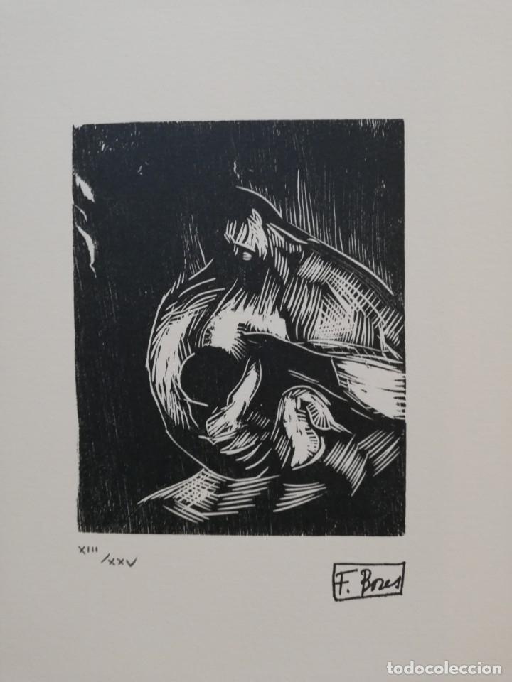 .FRANCISCO BORES.37.5X49.MANCHA 15X12,, (Arte - Xilografía)