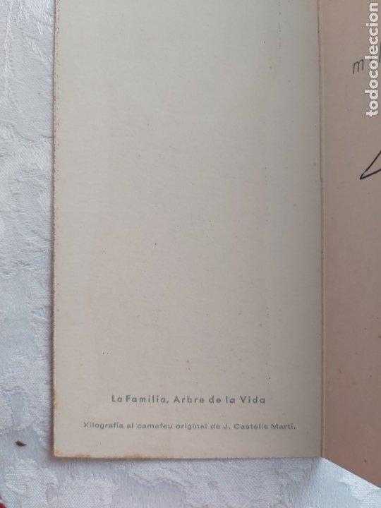 Arte: POSTAL DIPTICO XILOGRAFIA AL CAMAFEU ORIGINAL DE JOAN CASTELLS I MARTI 1960 - Foto 3 - 183091848