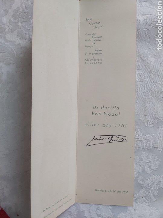 Arte: POSTAL DIPTICO XILOGRAFIA AL CAMAFEU ORIGINAL DE JOAN CASTELLS I MARTI 1960 - Foto 4 - 183091848