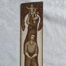 Arte: POSTAL DIPTICO XILOGRAFIA AL CAMAFEU ORIGINAL DE JOAN CASTELLS I MARTI 1960. Lote 183091848