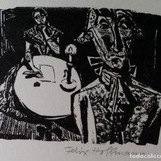 Arte: FELIX HOFFMANN, XILOGRAFÍA SOBRE UNA ESCENA DE SCHILLER, FIRMADO A MANO. 1967. Lote 185967021
