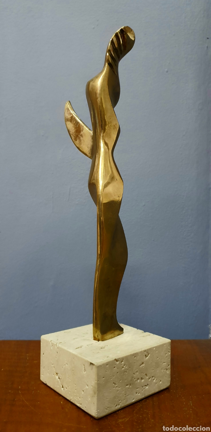 Arte: Escultura trofeo bronce perteneciente a Analia Gade, sin firma. - Foto 4 - 188500463