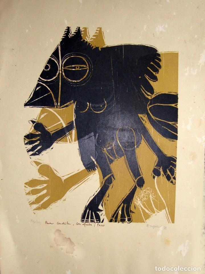 FRANCISCO IZQUIERDO. 1971. (DEDICADO) (Arte - Xilografía)