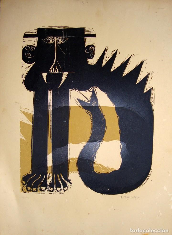 FRANCISCO IZQUIERDO. 1971. (Arte - Xilografía)