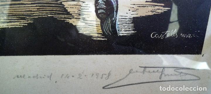Arte: La sardana XILOGRAFIA- DEL GRABADOR – CASTELLS i MARTÍ firmada y datada. - Foto 2 - 191606943
