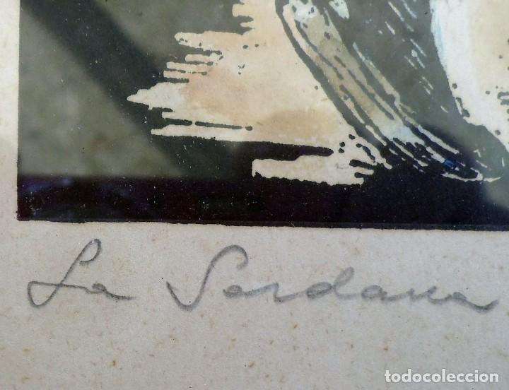 Arte: La sardana XILOGRAFIA- DEL GRABADOR – CASTELLS i MARTÍ firmada y datada. - Foto 3 - 191606943