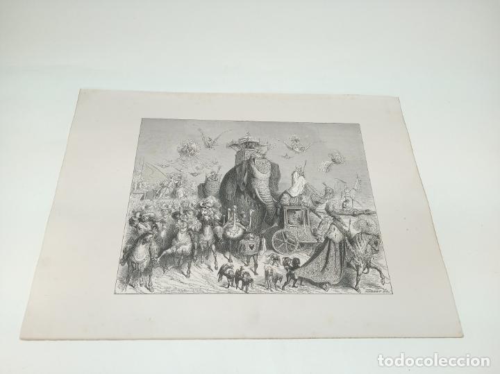 Arte: Bonita Xilografía de los cuentos de Perrault, Gustave Doré. 1ª ed. Hebert s, París, 1862, 37x 27 cm. - Foto 2 - 192959143
