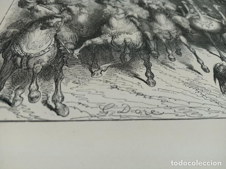 Arte: Bonita Xilografía de los cuentos de Perrault, Gustave Doré. 1ª ed. Hebert s, París, 1862, 37x 27 cm. - Foto 4 - 192959143