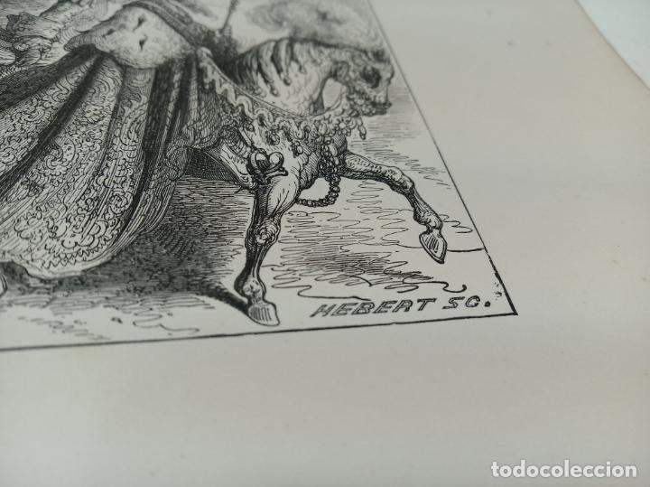 Arte: Bonita Xilografía de los cuentos de Perrault, Gustave Doré. 1ª ed. Hebert s, París, 1862, 37x 27 cm. - Foto 5 - 192959143