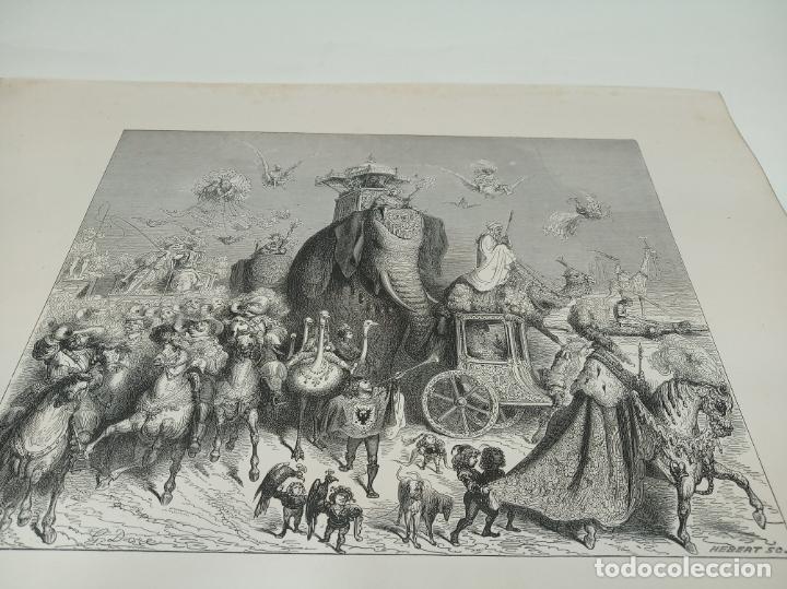 BONITA XILOGRAFÍA DE LOS CUENTOS DE PERRAULT, GUSTAVE DORÉ. 1ª ED. HEBERT S, PARÍS, 1862, 37X 27 CM. (Arte - Xilografía)