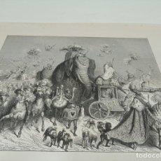 Arte: BONITA XILOGRAFÍA DE LOS CUENTOS DE PERRAULT, GUSTAVE DORÉ. 1ª ED. HEBERT S, PARÍS, 1862, 37X 27 CM.. Lote 192959143