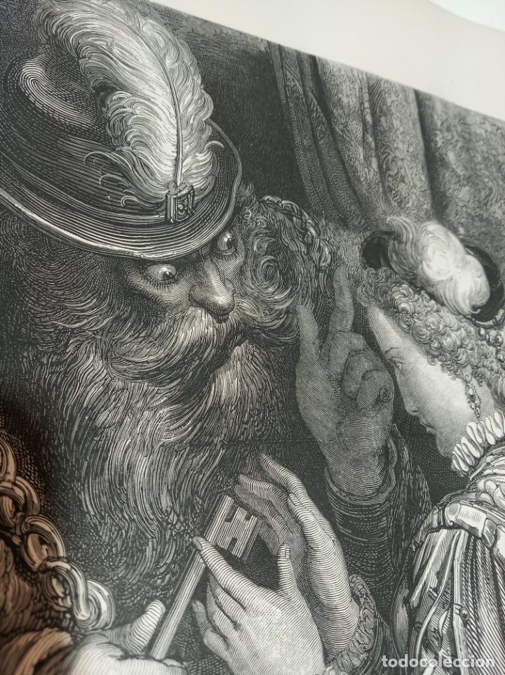 Arte: Bonita Xilografía de los cuentos de Perrault, Gustave Doré. 1ª ed. Hebert s, París, 1862, 37x 27 cm. - Foto 3 - 192959328