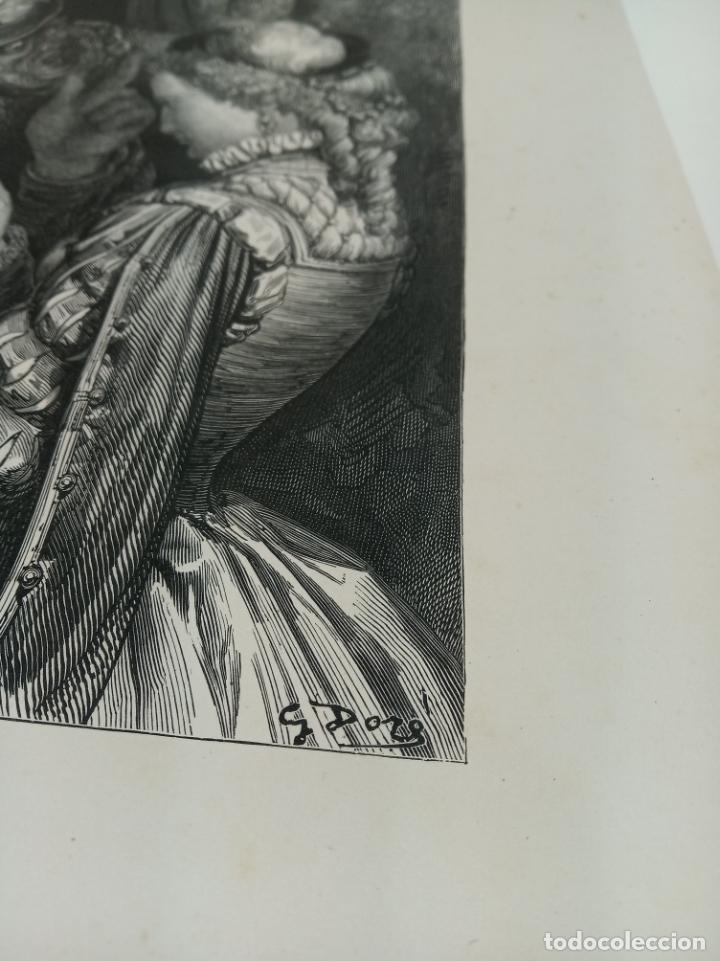 Arte: Bonita Xilografía de los cuentos de Perrault, Gustave Doré. 1ª ed. Hebert s, París, 1862, 37x 27 cm. - Foto 4 - 192959328