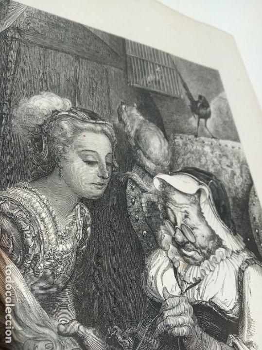 Arte: Bonita Xilografía de los cuentos de Perrault, Gustave Doré. 1ª ed. Hebert s, París, 1862, 37x 27 cm. - Foto 3 - 192959358