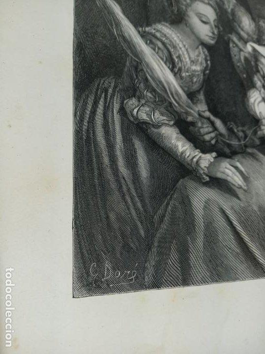 Arte: Bonita Xilografía de los cuentos de Perrault, Gustave Doré. 1ª ed. Hebert s, París, 1862, 37x 27 cm. - Foto 4 - 192959358