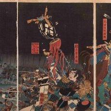 Arte: UTAGAWA KUNITSUNA XILOGRAFÍA ORIGINAL. Lote 193613540