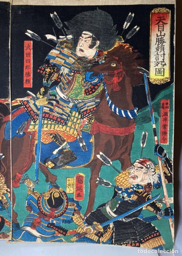 Arte: UTAGAWA KUNITSUNA Xilografía Original - Foto 2 - 193613540