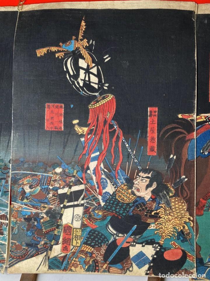 Arte: UTAGAWA KUNITSUNA Xilografía Original - Foto 3 - 193613540
