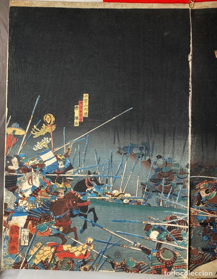 Arte: UTAGAWA KUNITSUNA Xilografía Original - Foto 4 - 193613540